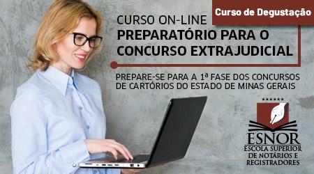 Curso Intensivo Preparatório para Concurso de Cartório - MG - Edital 01/2019 - DEGUSTAÇÃO
